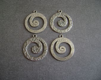 Charms /pendentifs patterned on 2 sides