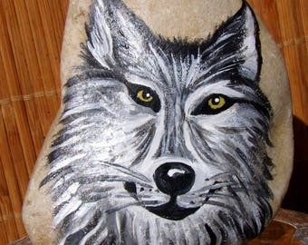 Pebble medicine Native American shamanism - Loup white - the vision of the Wolf Totem