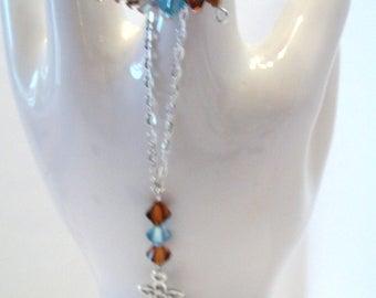 set of hand and swarowski beads costume jewelry