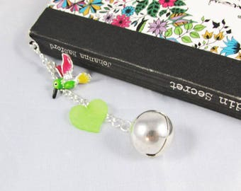 Arabesque - bird, leaves and bells - REF MP023 bookmark