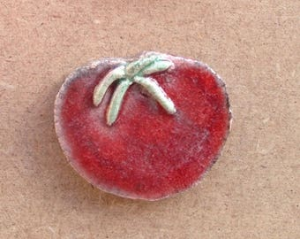 Tomato raku ceramic mosaic, jewelry or any other design - to paste or place (1)