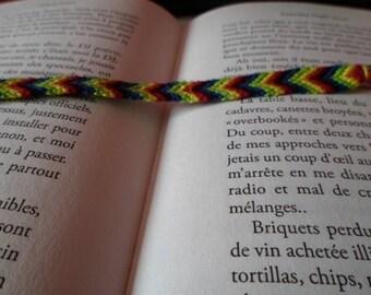 Friendship Bracelet black red yellow green blue