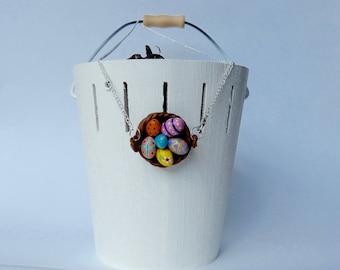 "Necklace ""basket of Easter eggs"""