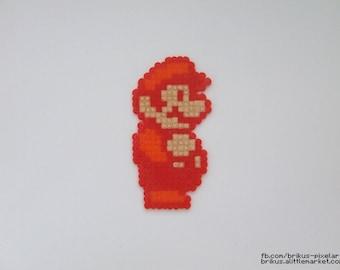 Super Mario fire (Pixel art in Hama beads)