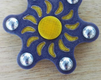 Spinner Sun yellow and gray