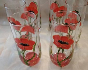 GLASS PAINTED ORANGE