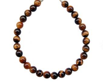 Bracelet Tiger eye beads 6mm