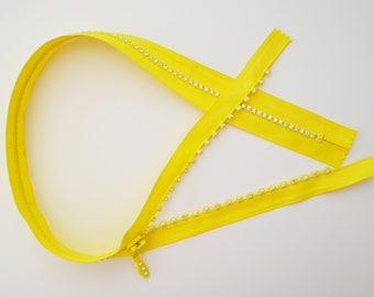 "ZIP inlay ""diamond"" - 60cms - yellow"