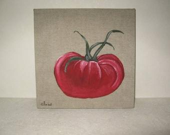 "Free shipping! acrylic painting ""tomato"""