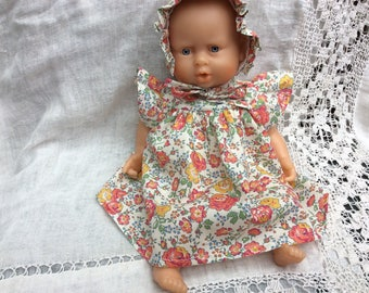 Doll clothes, dress Liberty Bliss copper