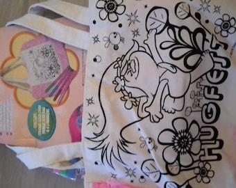Trolls coloring you even bag