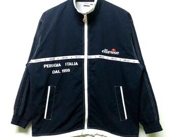 Vintage Ellesse Perugia Italia Windbraker Zipped Jacket 90's Size M