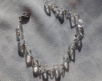 Beautiful white quartz bracelet cube
