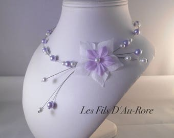 CELENA violet & white wedding necklace