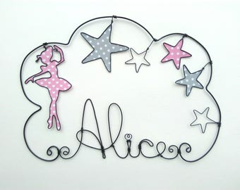 "Name wire personalized cloud ""a dancer amongst the stars"""