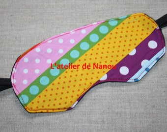 multicolored pattern sleep mask