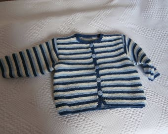1 year 18 months striped blue and white jacket