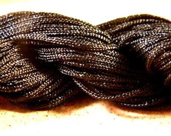 12 M Fil macrame Shamballa AF-Black 2 mm nylon cord