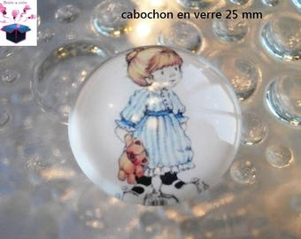 1 cabochon clear 25 mm child theme