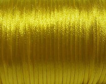 Yellow 2mm Satin cord (5 m)