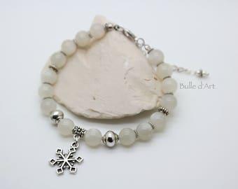Moonstones and a snowflake bracelet