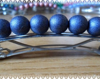 Spring hair with brilliant blue round beads