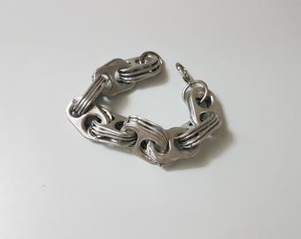 Recycled Soda Pop Tab Chain Bracelet