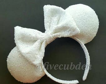 White mouse ears