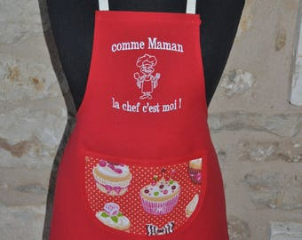 KID'S APRON HEAD THAT IS ME WITH NAME