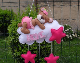Stitchable ... a tender bear sleeping on a cloud