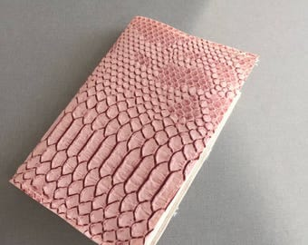 Pink faux leather Passport