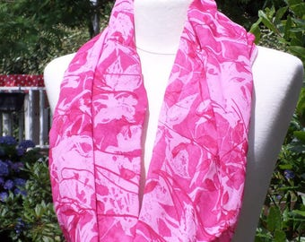 Pink Snood loop scarf women neck scarf