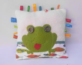 "Tactile cushion ""Frog"" - Visual and sensory discovery."