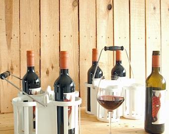 BOTTLE rack plastic 50/60s rack 4 bottles