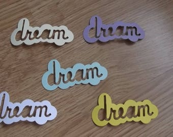 "5 cut out ""dream"" for your scrapbooking creations."