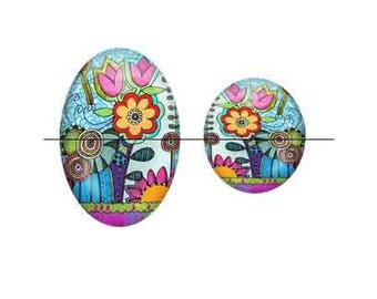 Pretty Cabochon 30 mm glass stick 30 mm art