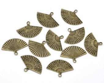 1 charm fan Charms 24x17mm