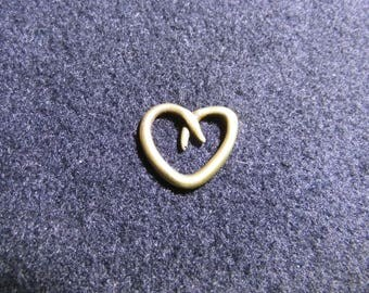 bronze 20mm heart charm pendant