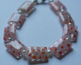 """Bracelet """"Orange pin"""""""