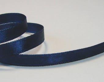 2 mėtres satin ribbon, Navy Blue 7 mm.