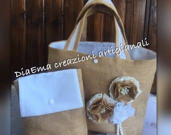 Shabby beach bag