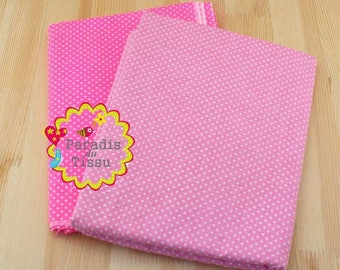 2 x fabric coupons 150x50cm pea 100% cotton patchwork pink