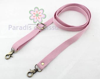 1 x strap cotton banduliere 2 cm pink clear D33
