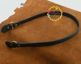 1 pair strap handle length 52 cm black faux leather bag handle