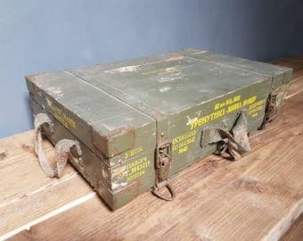 Old ammunition box