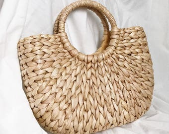Straw bag // boho bag // summer bag // Rattan bag // Weave bag // Beach bag