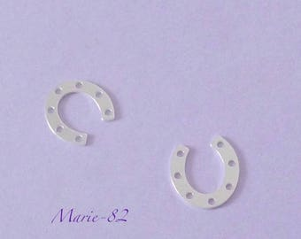 1 Horseshoe / Mini charm 10 mm - sterling silver