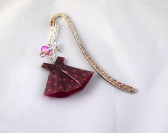 Origami dress swarovski bookmark