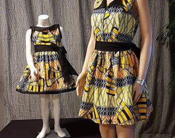 PROMOTION of the week... dresses mother and daughter in wax. HAND MADE