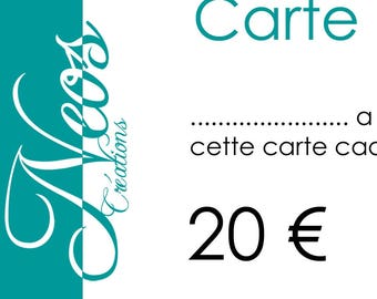 Gift voucher worth € 20